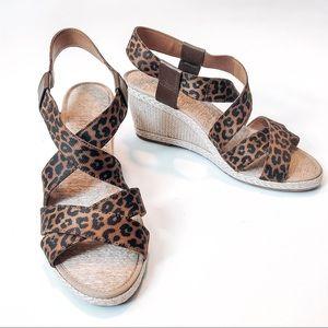 Lucky Brand Cheetah Print Espadrille Sandals 9.5